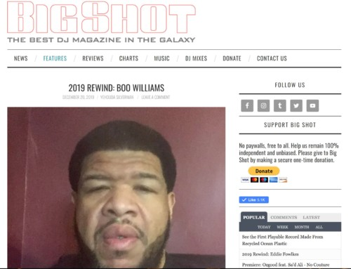 Boo Williams rewinds in Big Shot Magazine